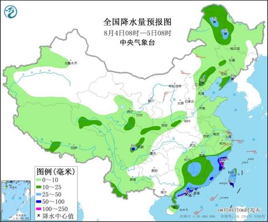 广东福建强降雨连连 江南等地高温持续