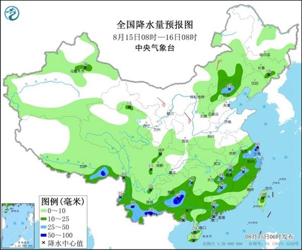 長江中下游等降雨減弱 華北需防強對流