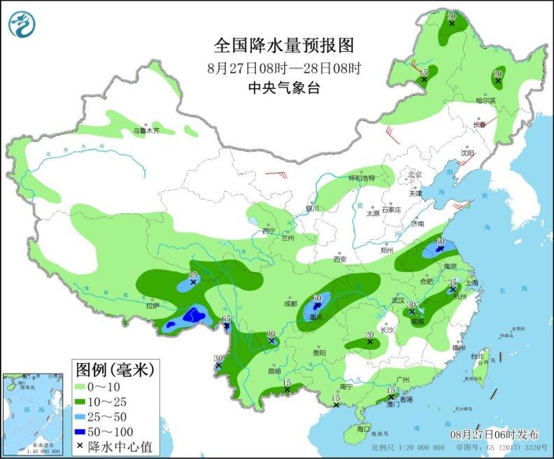 西南地區東部雨水短暫減弱 東北警惕強對流