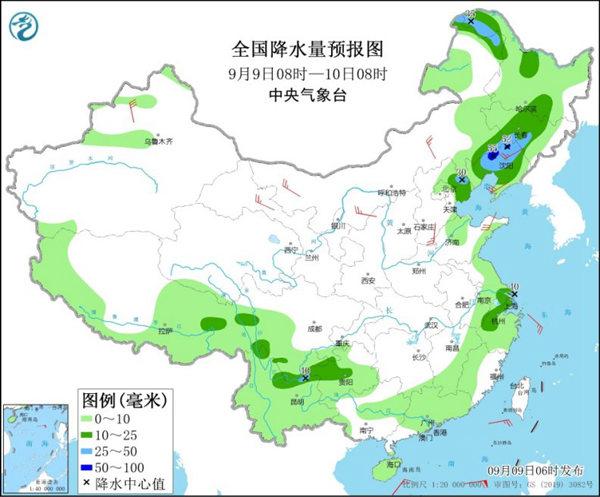 东北华北强对流发展 华南等地高温出没