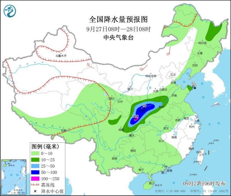 """四川陕西降雨""""无缝衔接"""" 北方多地气温回升"""