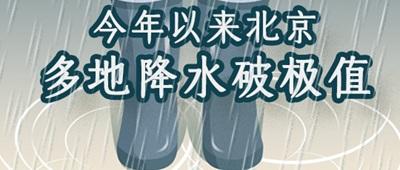 雨量破纪录!北京为何多雨似江南