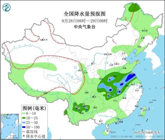 全国降雨明起减弱 长江中下游迎降温