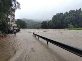 受強降雨影響 浙江衢州開化多地出現災情