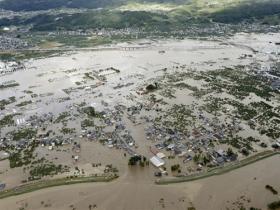 """台风""""海贝思""""重创日本 多地暴发洪灾"""