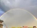 河北崇礼:风雨过后双彩虹横贯长空