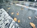 今晨北京降雨来袭 道路湿滑能见度较低