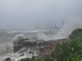"""近5年来影响海南的最强台风""""圆规""""致当地海水倒灌大树倒塌"""
