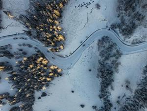 """冰雪里的""""人间净土""""——喀纳斯"""
