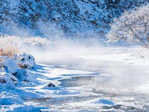 内蒙古神奇不冻河 -35℃严寒仍流淌