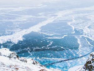 贝加尔湖蓝冰美景静谧幽远
