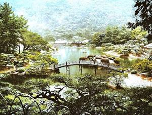 一步一景 日本香川栗林公园美如水彩画