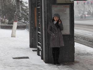 太原迎大范围降雪 照片记录市民雪中百态
