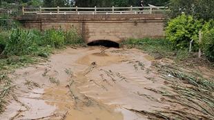 甘肃庆阳遭遇极端强降水 雨后一片狼藉