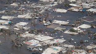 航拍飓风多里安扫荡后的巴哈马 满目疮痍