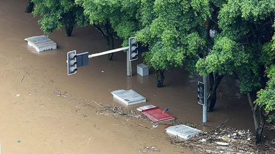 長江重慶段洪水水位破1981年歷史極值