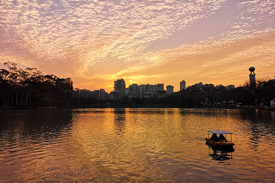 福州绝美晚霞惊艳整片天空