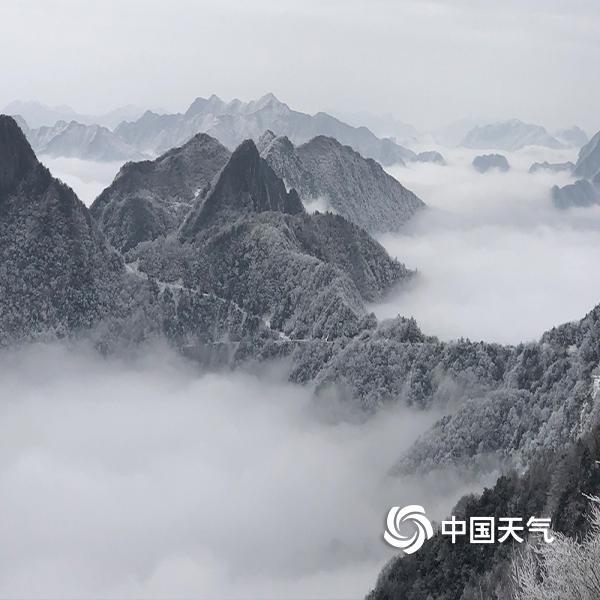 """重庆巫溪红池坝身披""""白纱"""" 宛如水墨画"""