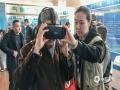 市民通过VR来体验人工增雨。(摄影/林松 文/黄英伟)