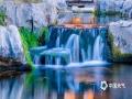 济南护城河的泉水如瀑布般涌出。(图/李峰 文/王连珍)