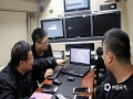 4月8日下午7时许,陕西省移动气象台奔赴现场开展服务。(图/王龙)