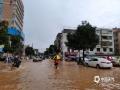 怀集县怀城镇工业大道妇幼医院门口水浸情况。