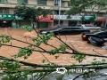 22-24日,江西遭遇连续强对流性降雨过程,强雷电、 短时强降水、雷雨大风等强对流天气频频出现,多地出现城市内涝、道路积水、山体滑坡、道路坍塌、房屋倒塌、树木折断等灾情,给人民生活造成很多困难。 图为4月23日下午信丰县强对流天气过程,县城内涝严重。摄影/曹蓉