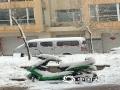 4月24日,锡林郭勒盟多伦县降暴雪,截止今日08时降水量达19.2毫米,积雪深度达10厘米左右。(成日晟 摄)