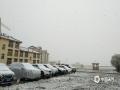 中国天气网讯 5月19日开始到20日,四川阿坝州红原县迎来了一场雨雪天气,县城里雪花飞舞,一片白茫茫的大地,让人有置身于冬季的错觉。(图/潘军 文/李颖)
