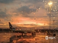 中国天气网讯 近日,受暖湿气流和冷空气共同影响,福州连续阴雨天气。6月3日傍晚,雨止放晴,福州各地的天空惊现晚霞和彩虹,绚烂夺目,一时间刷爆了朋友圈。图为福州长乐国际机场。(摄/机务  文/林凌)