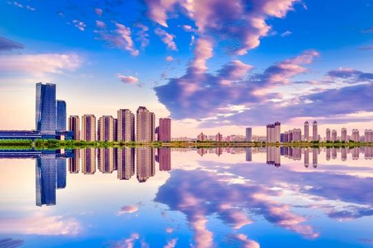 惊艳!松花江畔上演360°全景光影大片