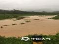 图为农田变水塘,农作物受损严重。(文/曾钦文 图/龙川县三防办)