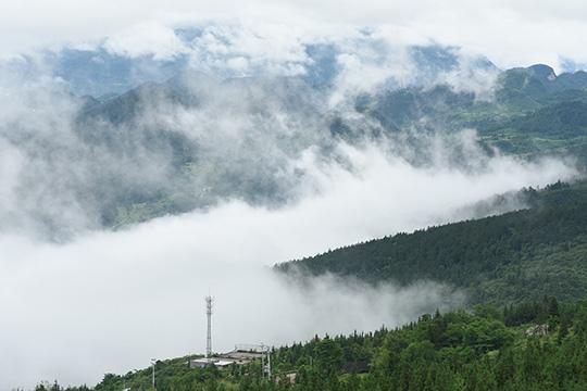 云霞雾霭遮山林 重庆丰都雨后现奇观
