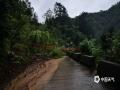 6月20日,四川万源出现强降雨天气过程。截至中午12时,有11个站点降雨量超过50毫米,最大降雨量竹峪161.7毫米。强降雨造成多个城镇发生内涝、滑坡、泥石流等地质灾害,部分道路交通中断。图为虹桥乡道路中断。(图/张志黎)