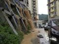 图为22日沿河县红星桥社区受灾严重。(图文:崔文明 蔡成瑶 鲁颖)