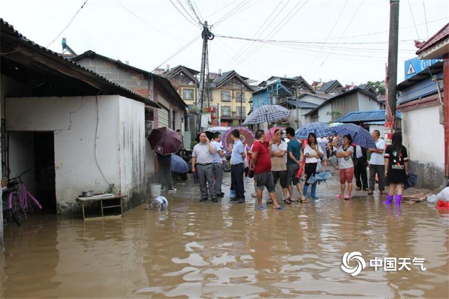 惠灵顿天气_强降雨凶猛!云南盈江积水没过行人大腿-图片频道-中国天气网