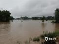中国天气网讯 25日,盈江县多个乡镇降下暴雨、大暴雨天气。强降雨导致盈江县多地内涝,河流发生洪涝灾害。图为盈江县平原镇盏达河发生洪涝灾害。(图/储平 文/宋云涛)