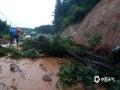 7月6日14时至7日14时,江西抚州、萍乡等地遭遇暴雨,导致严重的内涝,洪水及滑坡等灾害。图为抚州南城县龙湖镇发生山体滑坡。图/金垚