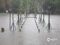 中国钱柜娱乐777天气网讯 5-7日,柳州出现了大范围的暴雨到大暴雨天气,最强降雨区位于融水县西部和市区北部。柳州的融水、鹿寨、柳城等县区出现严重的洪涝灾害,部分乡镇道路被冲毁、民房被淹,大半个柳州市都被水浸泡。柳州市气象台接连发布雷电橙色、大风蓝色、暴雨红色预警。图为柳州市区公园里的过道被积水完全淹没。(图文/李宜爽)