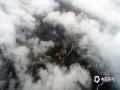 中国天气网讯 随着近几日降雨频繁,湿度增大,河北唐山遵化山区的清晨出现了罕见的云雾景观。通过无人机的高空拍摄可以看到,云雾飘荡在天空犹如大海一般,山村、山峰和庙宇在其中若隐若现,美如仙境。7月10日无人机拍摄(图/刘满仓)