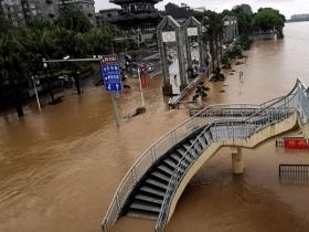 桂林暴雨再次來襲 城區內澇嚴重