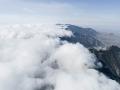 宁夏贺兰山山间流云 气势磅礴犹入仙境