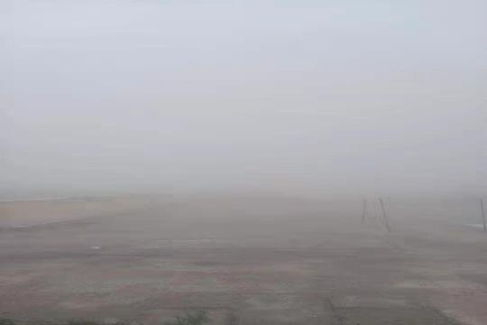 最小能见度265米!青海茫崖出现强沙尘暴天气