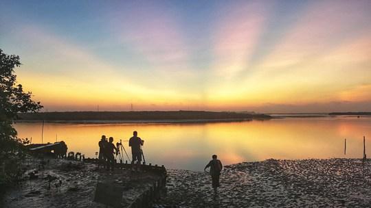 晨曦中的海口湿地公园美翻了