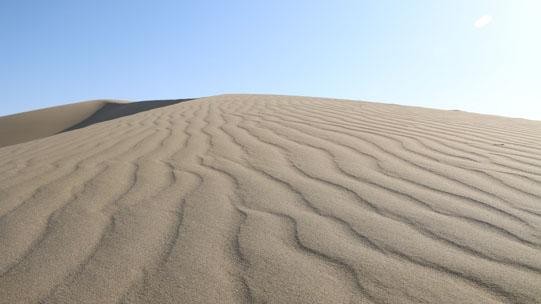 美哉!快来看甘肃鸣沙山的风之痕