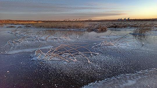 冰冻之美 河北承德围场坝上景色如画
