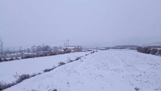 宁夏西吉再迎降雪 影响道路交通