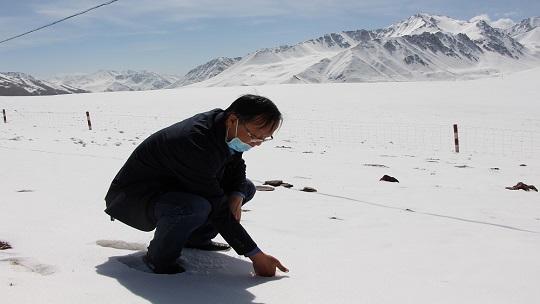 甘肃武威气象人深入祁连山腹地考察冰川积雪