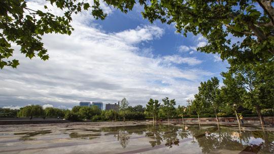 河北廊坊雨过天晴 蓝天白云美如画