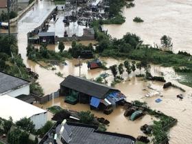 """江西北部多地遭遇强降雨 积水明显一片""""汪洋"""""""